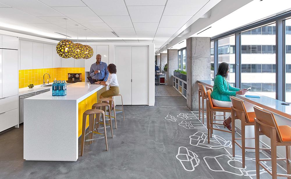 The American Society of Interior Designers' headquarters is LEED and WELL certified
