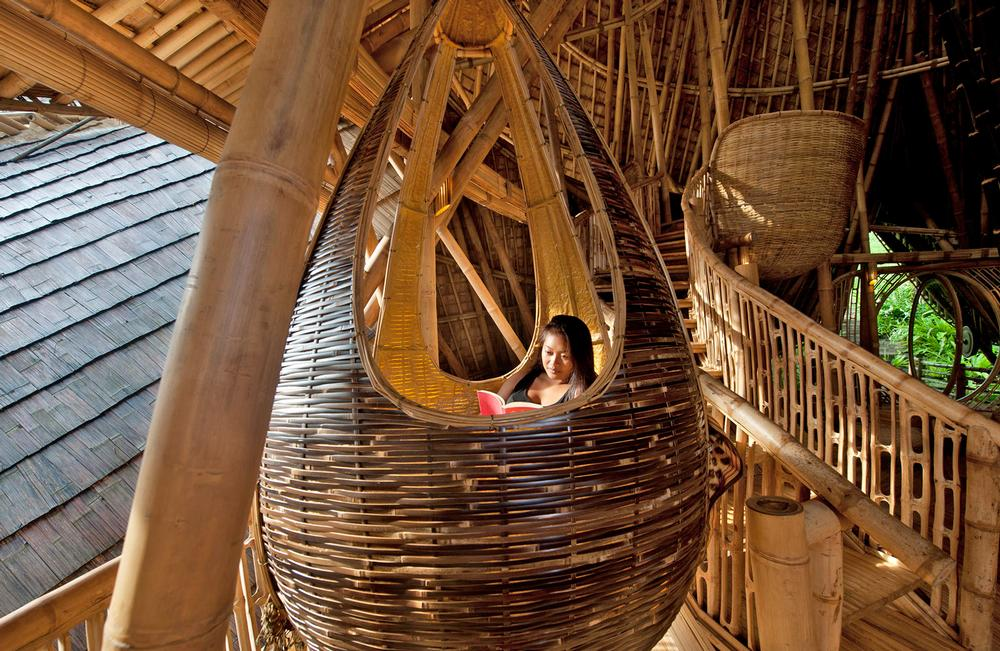 River House at the Green Village is filled with cosy corners for nesting and relaxing / Photo: IBUKU/Rio Helmi