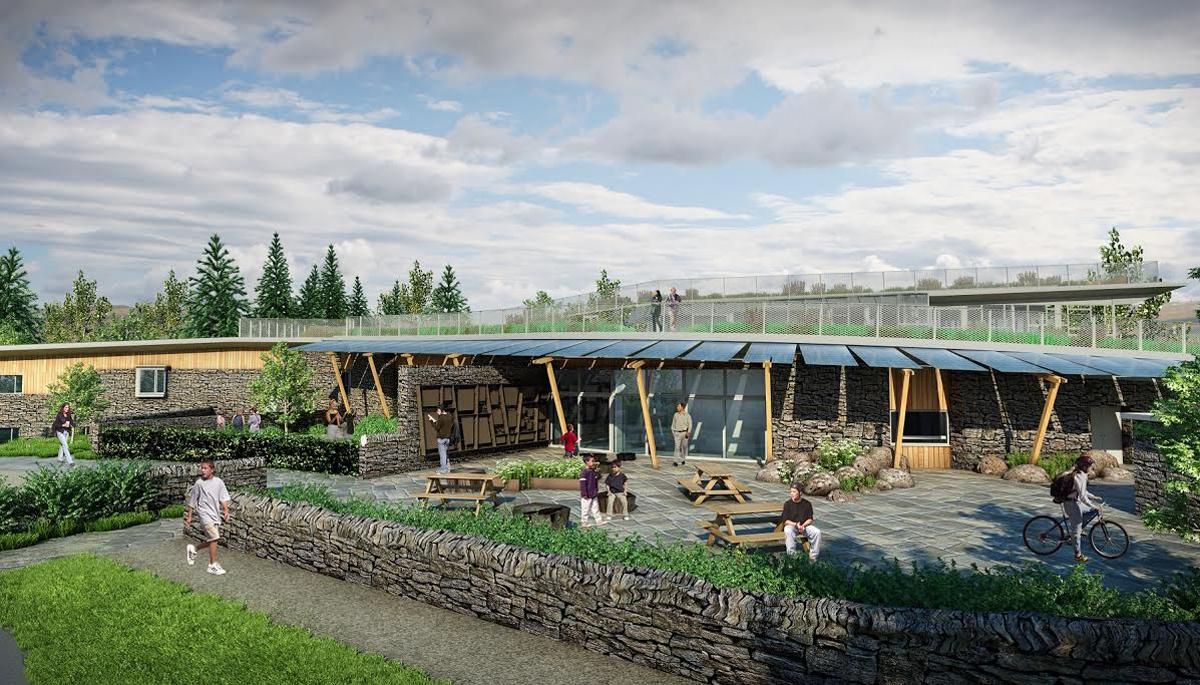 A rendering of 'The Sill' set to become the UK's first national landscape discovery centre / JDDK
