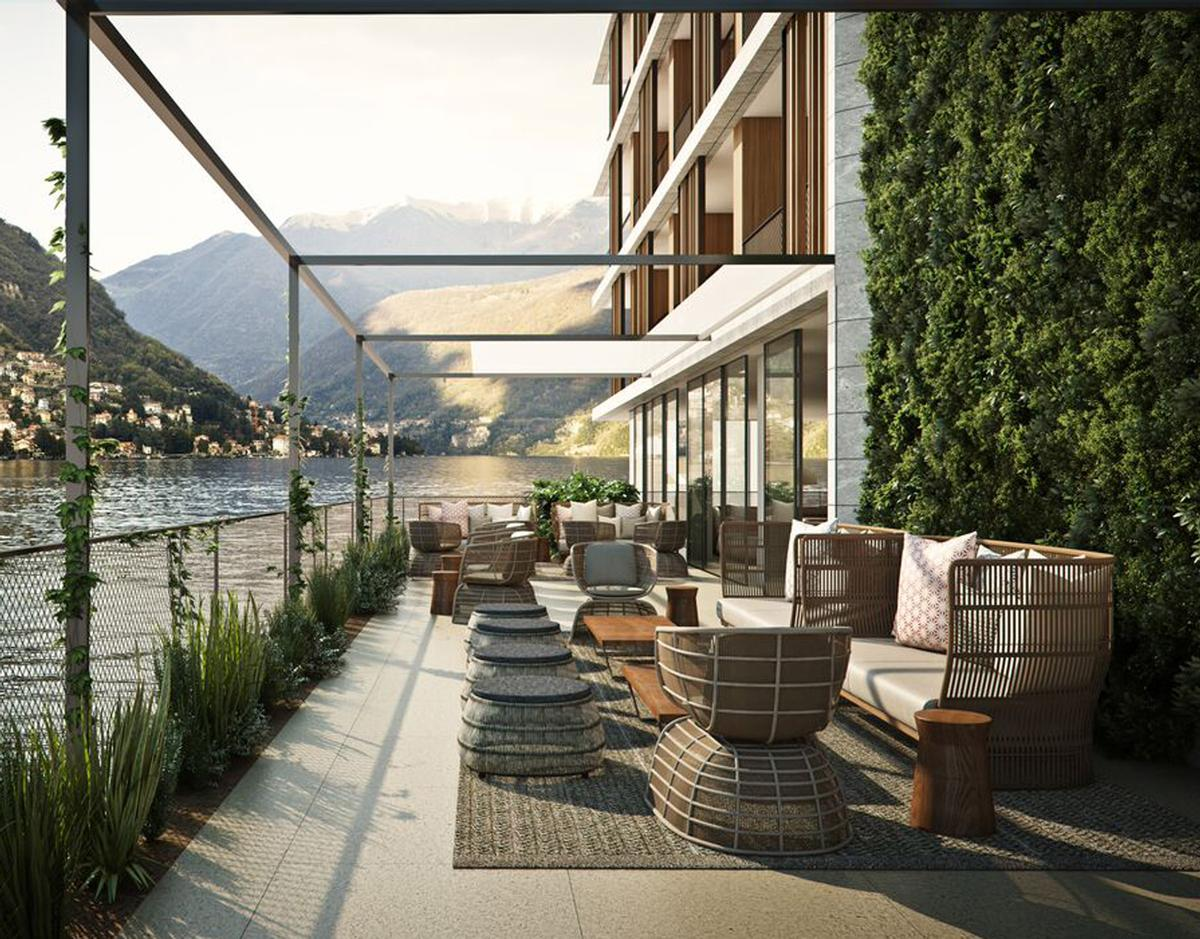 Il Sereno is located on a scenic promontory along the lake's eastern shoreline, offering views across the water and to the adjacent village of Torno / il Sereno