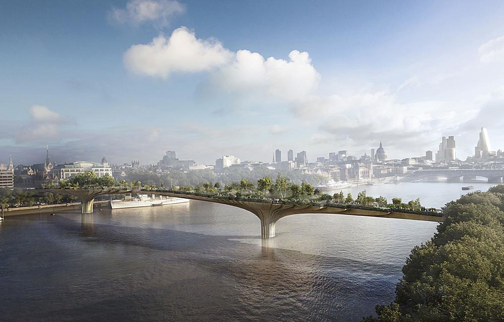 Dan Pearson was commissioned to do the planting for Heatherwick's Garden Bridge / Image: Garden Bridge Trust