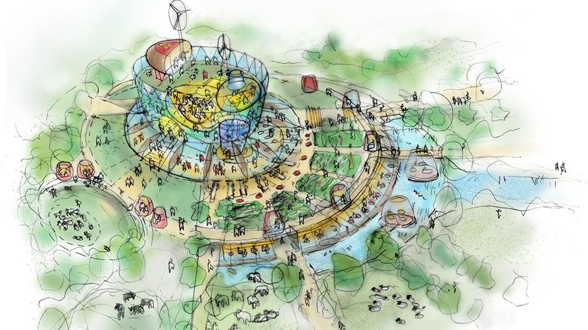 The Ark structure would sit at the heart of the Eden Westwood / Eden Project