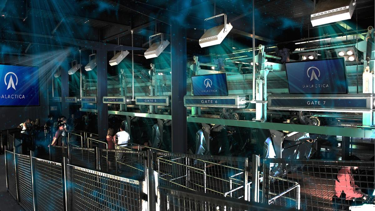 Galactica is a reimagining of Alton Towers' Air Coaster