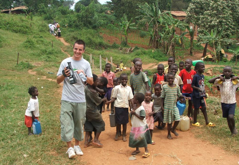 Mark Wood was one of the members of Fitness Express staff to visit Uganda