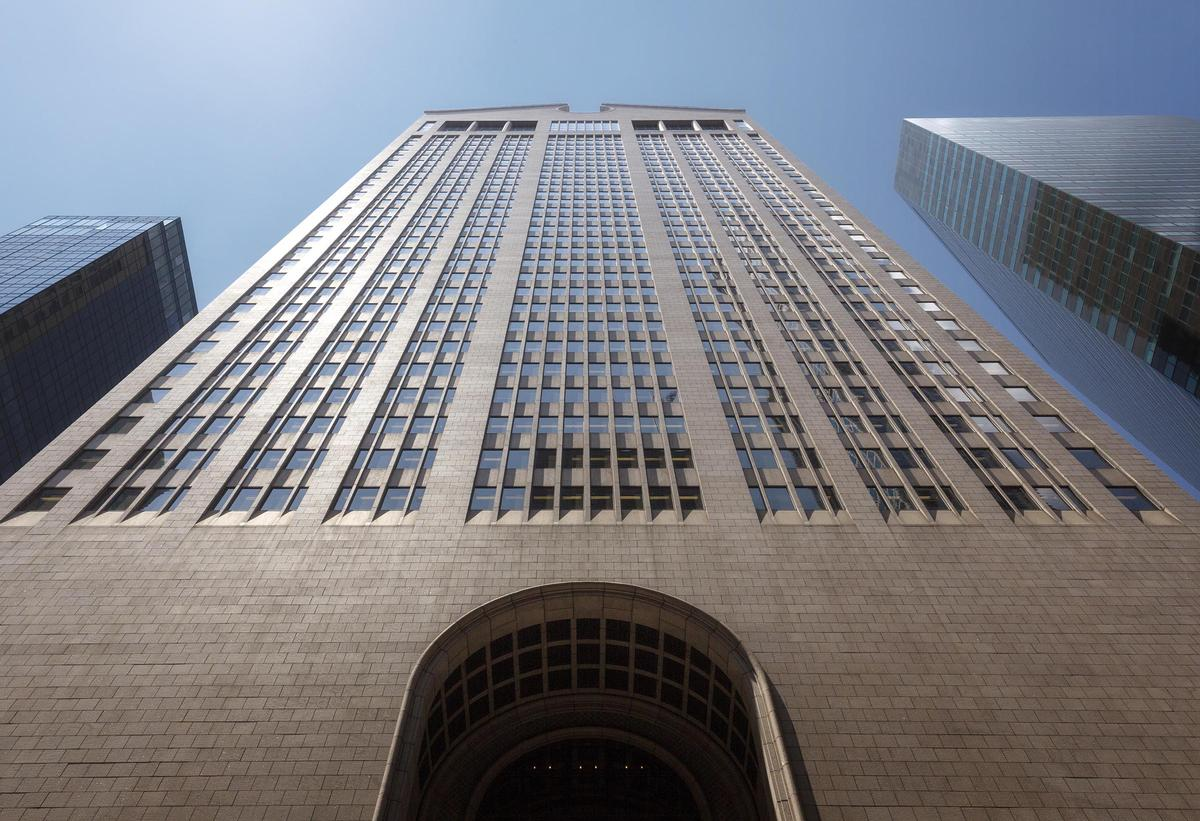 Originally designed by architect Philip Johnson, the Sony Tower is an iconic New York landmark, known for its ornamental 'Chippendale' roofline and considered to be one of the first postmodern skyscrapers / Oetker Collection