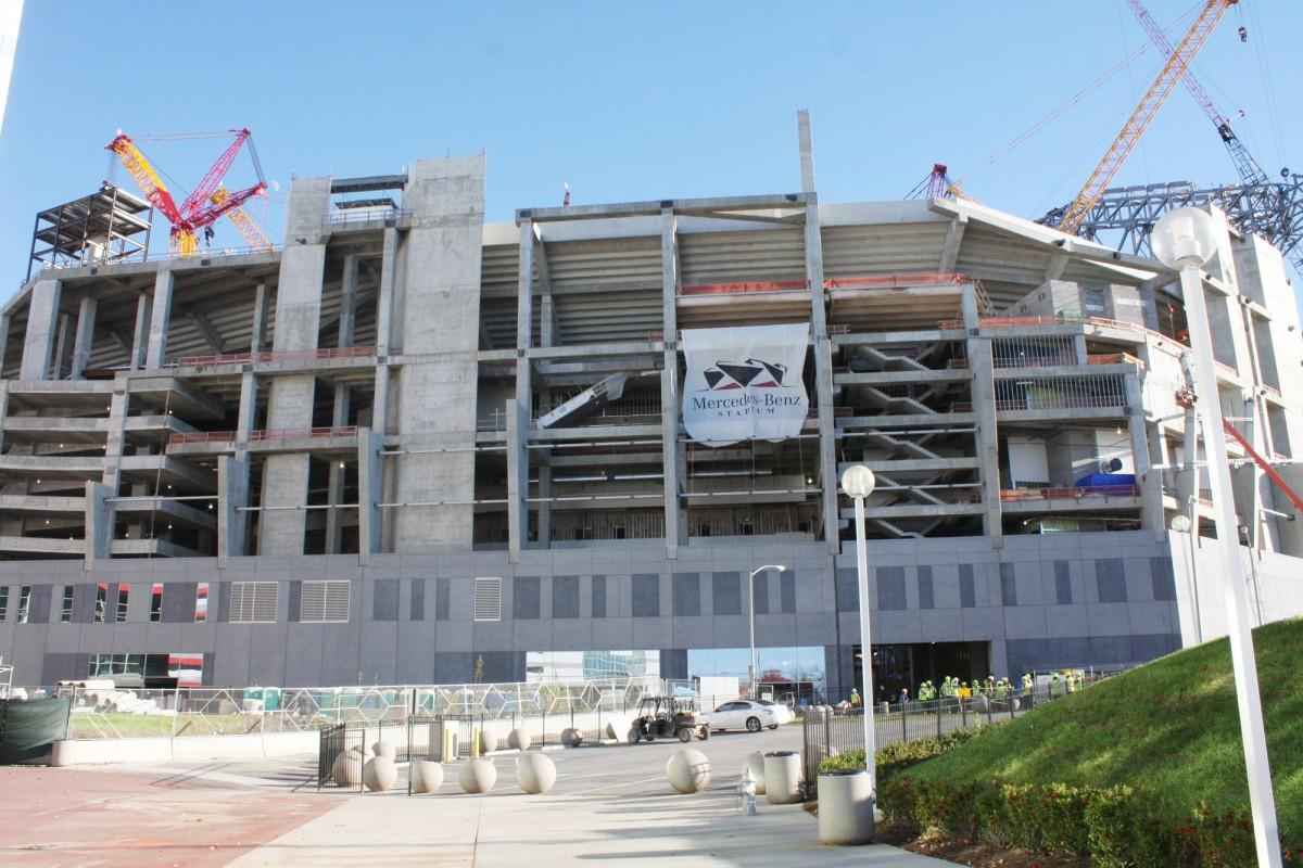 According to an update posted on the stadium's website, the venue is taking shape / Mercedes Benz Stadium