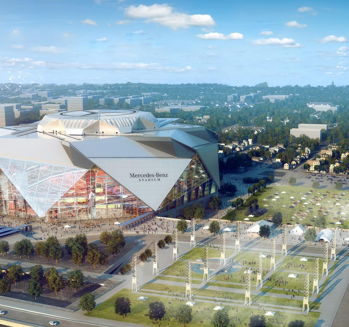 The Mercedes-Benz Stadium has been billed as 'a new standard in stadium design and fan experience' / Mercedes Benz Stadium