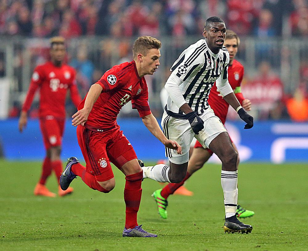Although Italian clubs are struggling financially, Juventus sold Paul Pogba (centre) for a world-record £89m in 2016 demonstrating its comparative economic strength / Adam Davy PA