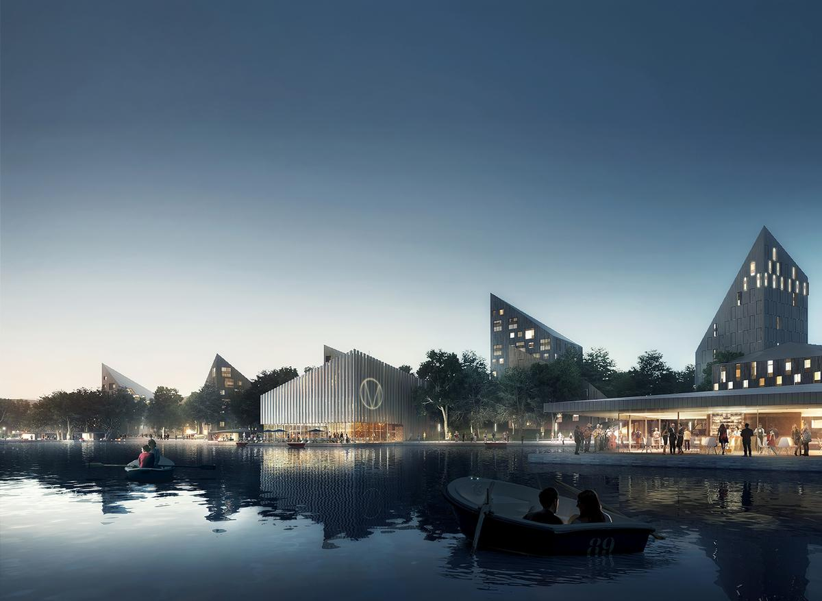 Restaurants, cafes and cultural facilities will be built along a new waterside promendade / COBE/visualisation by Luxigon