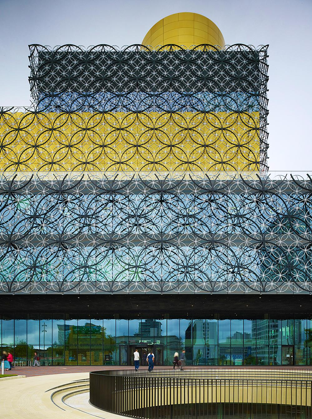 The Library of Birmingham's façade references the city's history of jewellery manufacturing