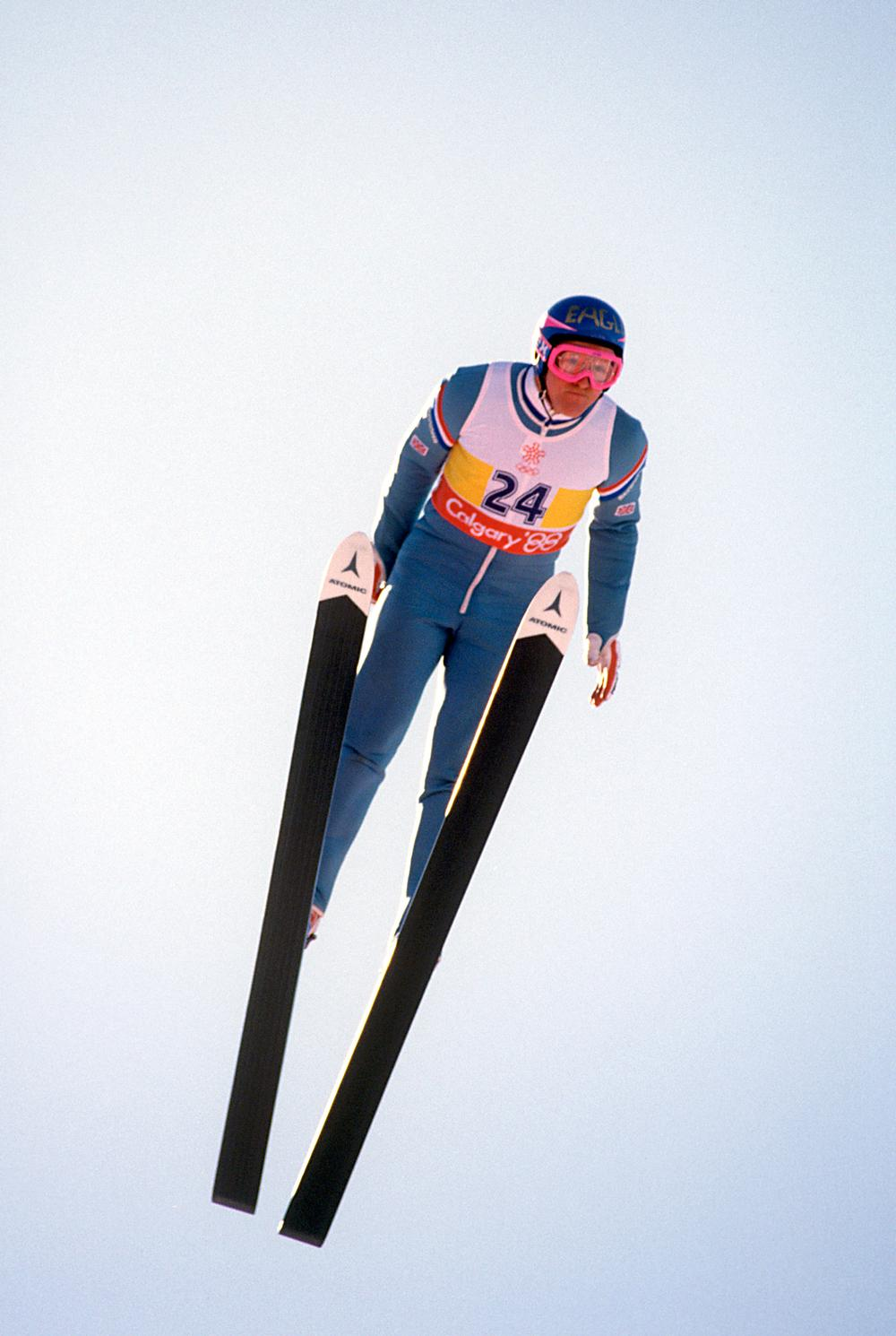 In 1988, Edwards became Britain's first Olympic ski jumper since 1929 / S&G/S&G and Barratts/EMPICS Sport