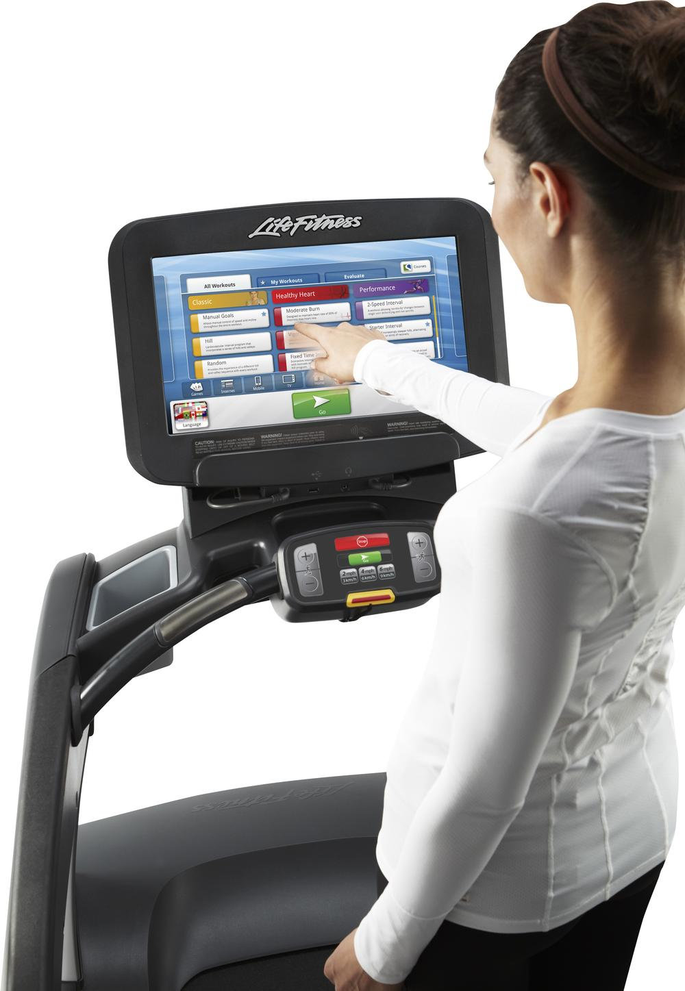 Third party companies can develop apps that link to the new tablet consoles on Life Fitness CV equipment