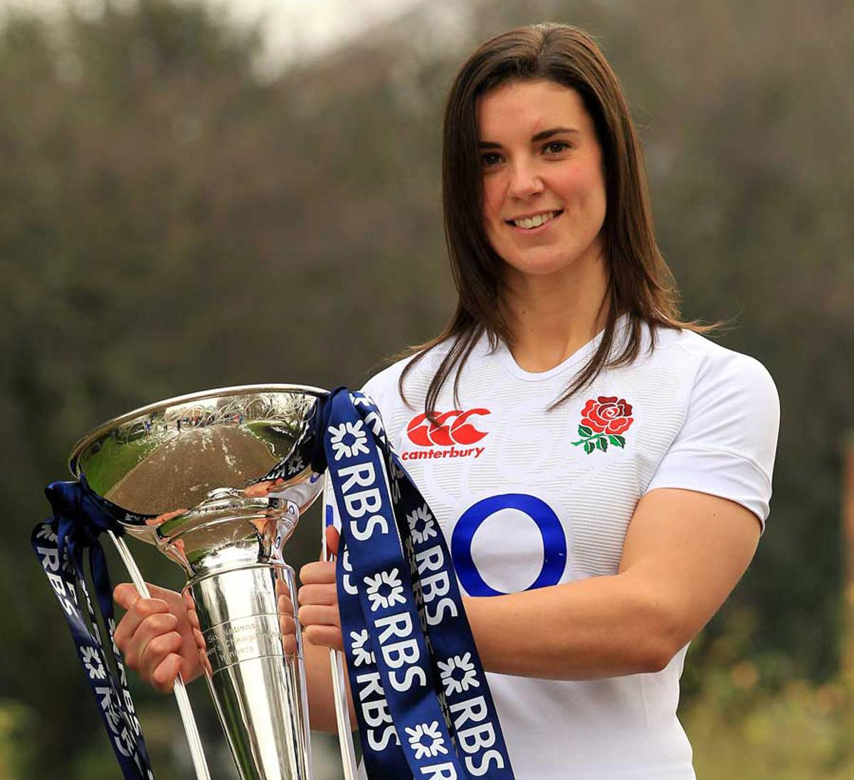 Sarah Hunter, part of the triumphant England Women's Rugby Team, received an MBE