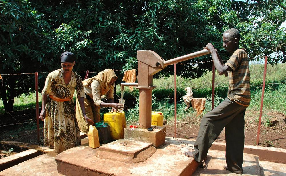 The project in Ethiopia is providing fresh, and readily accessible, drinking water for the villagers