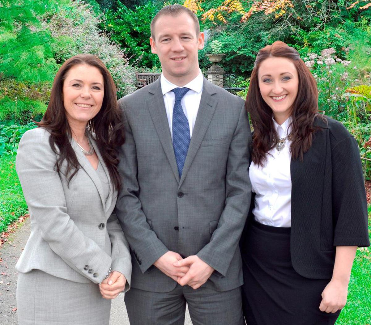 Jill Russell, Anthony Woodhouse and Phillipa Donnison make up the new spa and leisure team at Ramside Hall / The Journal
