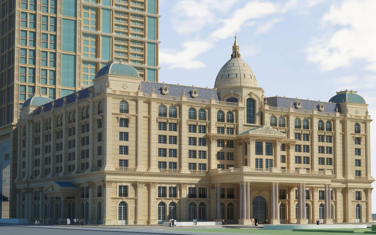 The multi-use development that stands on the site of one of Dubai's oldest hotels, the Metropolitan / St Regis