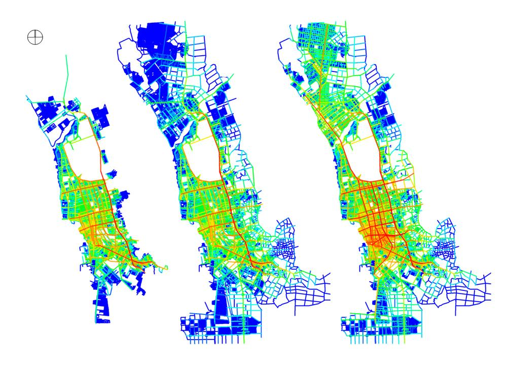 These example maps illustrate accessibility and sprawl scenarios