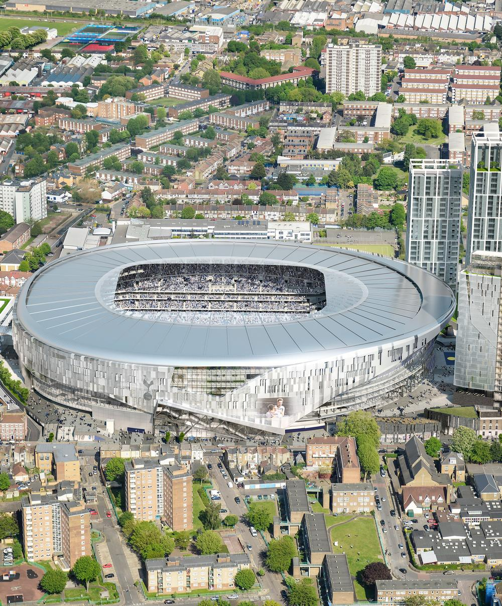 The stadium will anchor a large regeneration initiative in Northumberland Park, North London / populous