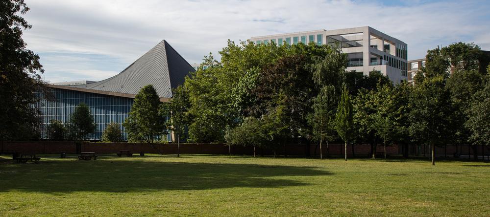 OMA designed the three housing blocks that stand alongside the museum / PHOTO: LUKE HAYES