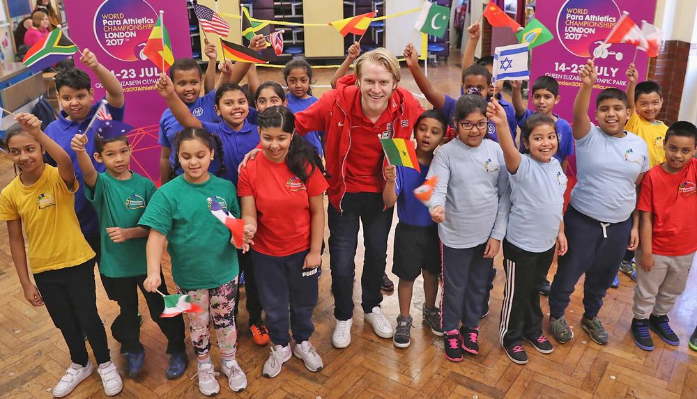 Paralympic star Jonnie Peacock promotes the IPC World Para Athletics Championships