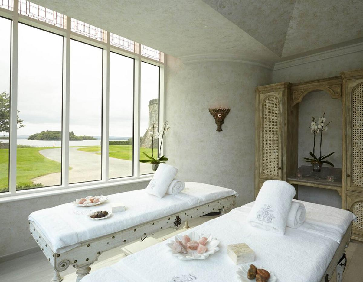 The Spa at Ashford Castle is inspired by the location and history of the iconic castle, parts of which date back to the 13th century / Ashford