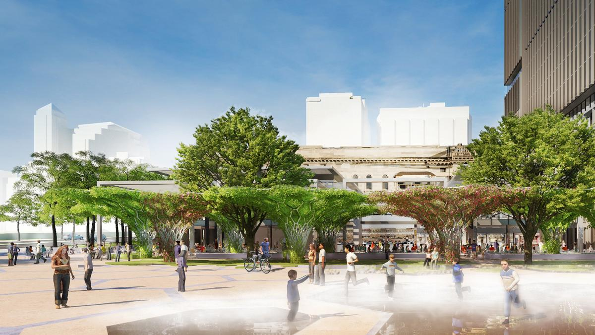 The space will be full of trees and other greenery / Renewal SA