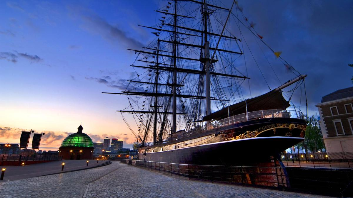 The 19th century Cutty Sark is one of only three remaining clipper ships from that time period