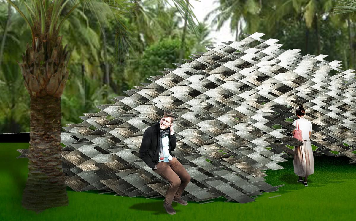 The Aluminum Cloud Pavilion by Kengo Kuma