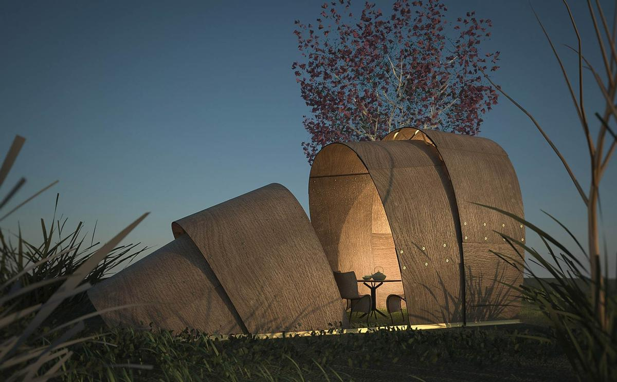 The Armadillo Tea Pavilion by Ron Arad