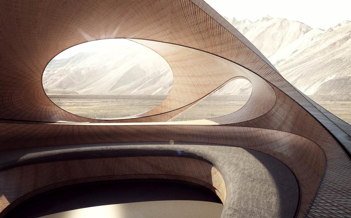 The Ellipsicoon Pavilion by Ben van Berkel