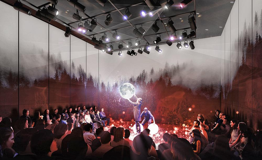The Play level is a highly flexible performance space that can be adapted for a wide range of shows
