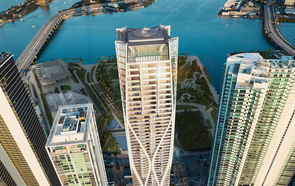 One Thousand Museum: Zaha Hadid has designed a high-luxe residential tower for Museum Park in Miami, Florida