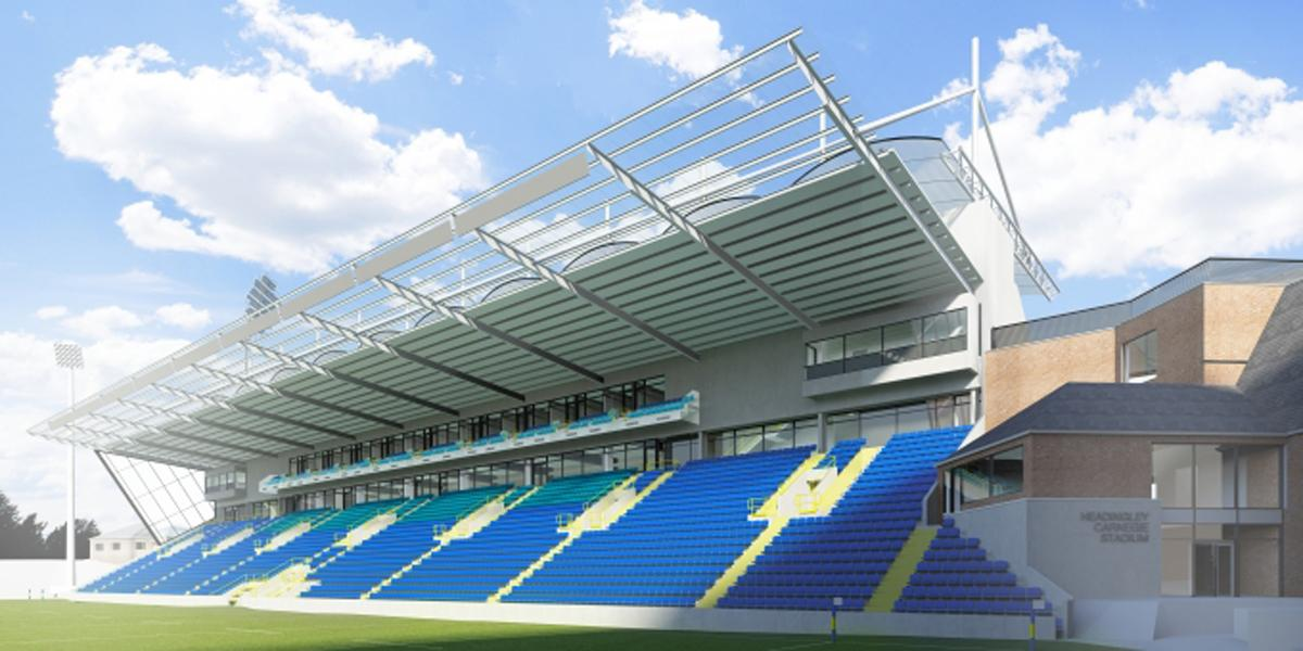 An artist's impression of the rugby stadium's redeveloped North Stand
