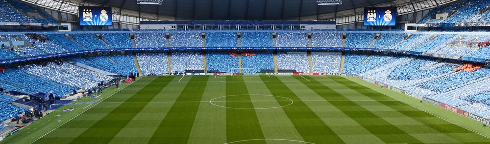 The Etihad Stadium, the home of two-time Premier League champion Manchester City Football Club