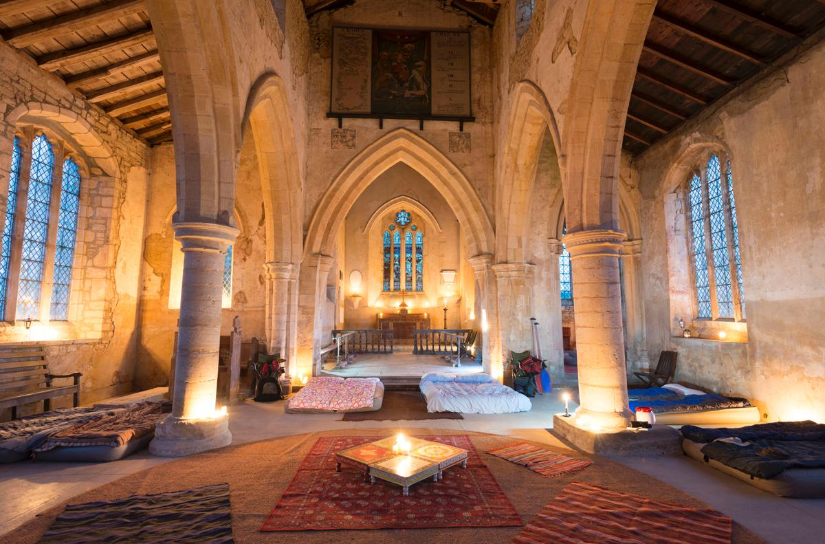 The Churches Conservation Trust is offering a twist on the traditional bed & breakfast, camping by candlelight in a church / David Joyner