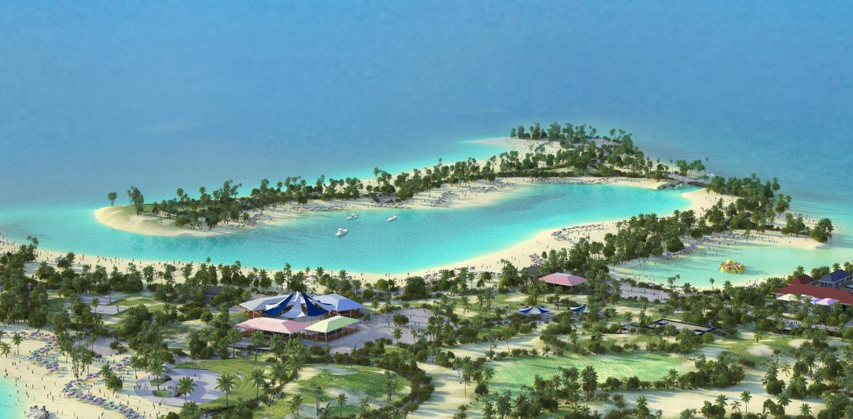 More than 80 indigenous Caribbean trees, grasses, flowers and shrubs will be planted across the island's 5 acres (38.5-hectares), and six separate beaches and an inland lagoon will be created / MSC Cruises