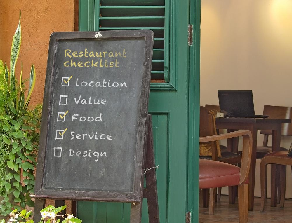 There are five components to any good restaurant: achieving three is usually enough for success / shutterstock