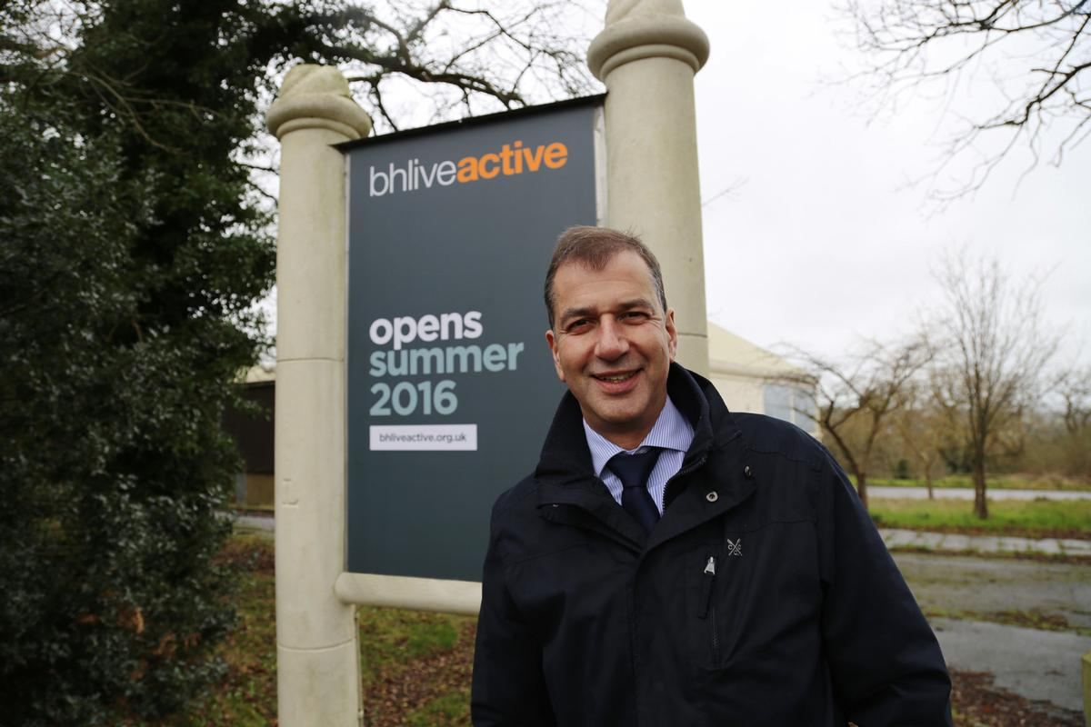 BH Live CEO Peter Gunn at what will become BH Live Active, Corfe Mullen