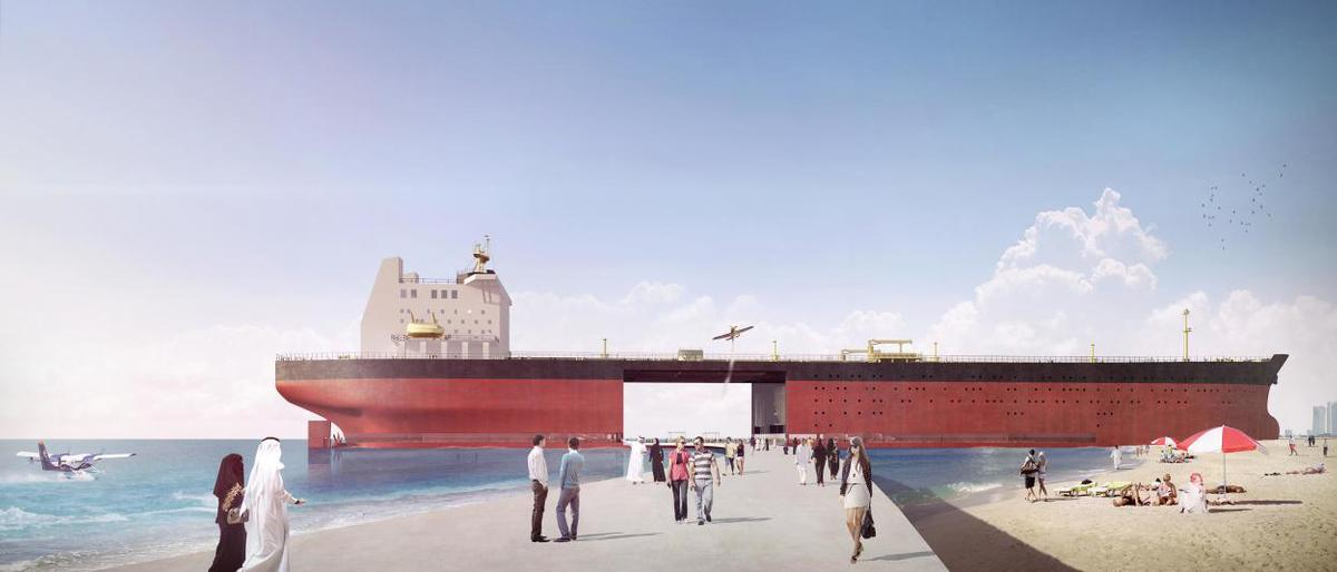The designers believe oil tankers will become obsolete in the future