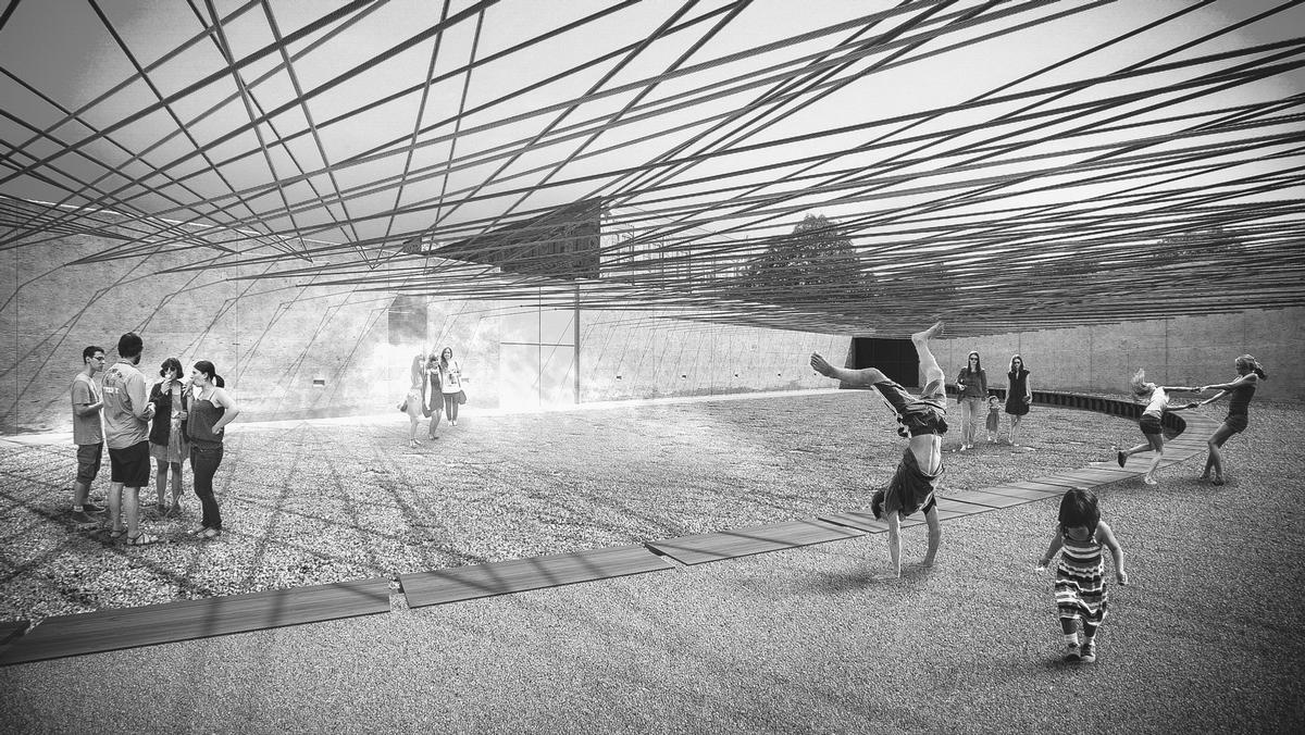 Weaving the Courtyard will host MoMA PS1's Warm Up summer music series in Q3 this year / MOMA/Escobedo Solíz Studio