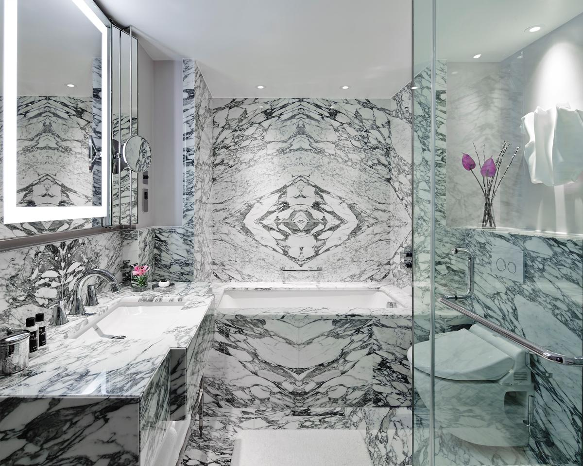 The bathrooms at the Park Lane hotel display a sense of individuality / RPW Design