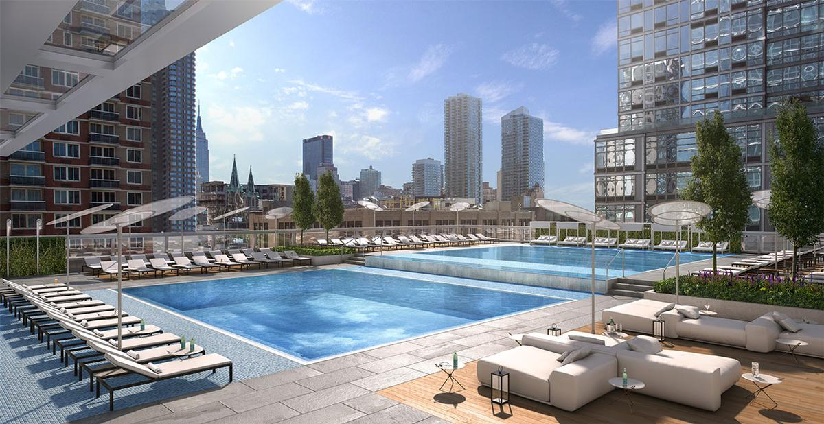 The club will have two outdoor pools / Moinian Group