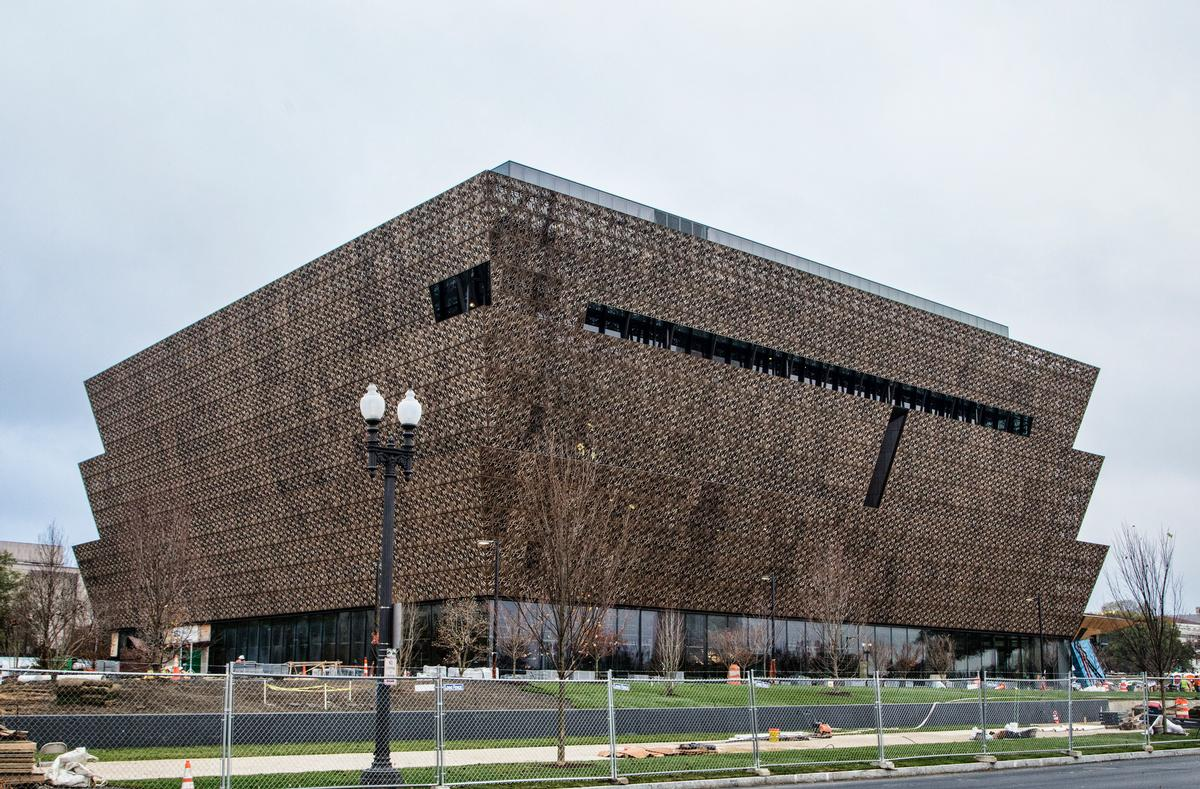 Exhibition galleries, an education centre, a theatre, café and store will be spread across nine storeys / National Museum of African American History and Culture