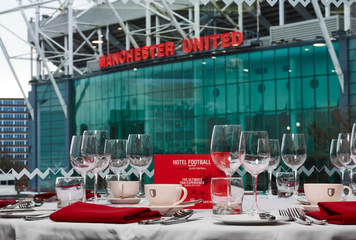 Guests can dine in Stadium Suite overlooking the 'Theatre of Dreams'