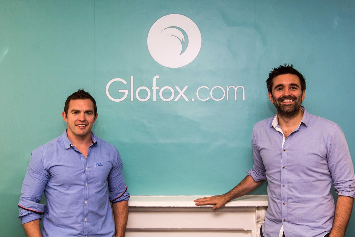 Glofox founder and CEO Conor O'Loughlin (L) with Glofox co-founder and sales director Anthony Kelly