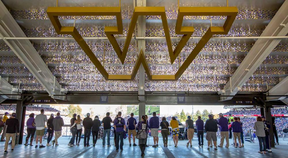 HOK's renovation of the University of Washington's Husky Stadium in Seattle, US, included the use of native landscaping in order to reduce water use at the venue