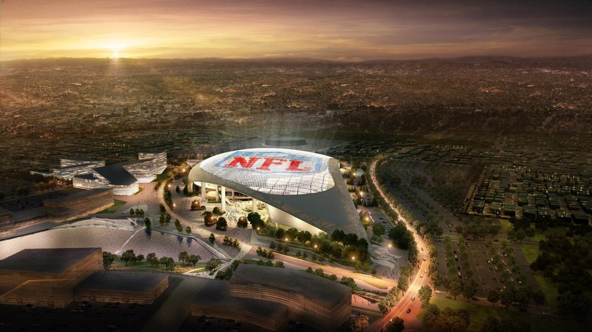 The HKS-designed roof will be twice the size of the arena it covers / Los Angeles Rams
