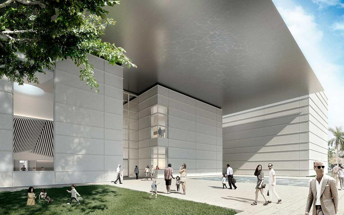 A shimmering canopy will cover the pavilions and a new public space / Foster + Partners