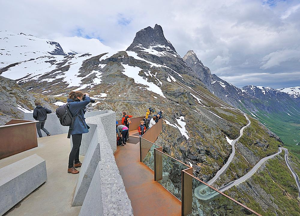 The Trollstigen viewing platform on the network of National Tourist Routes in Norway / PHOTO: JARLE WÆHLER