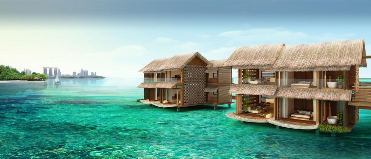 The villas will be made from simple natural materials to fit with the natural theme / Funtasy Island